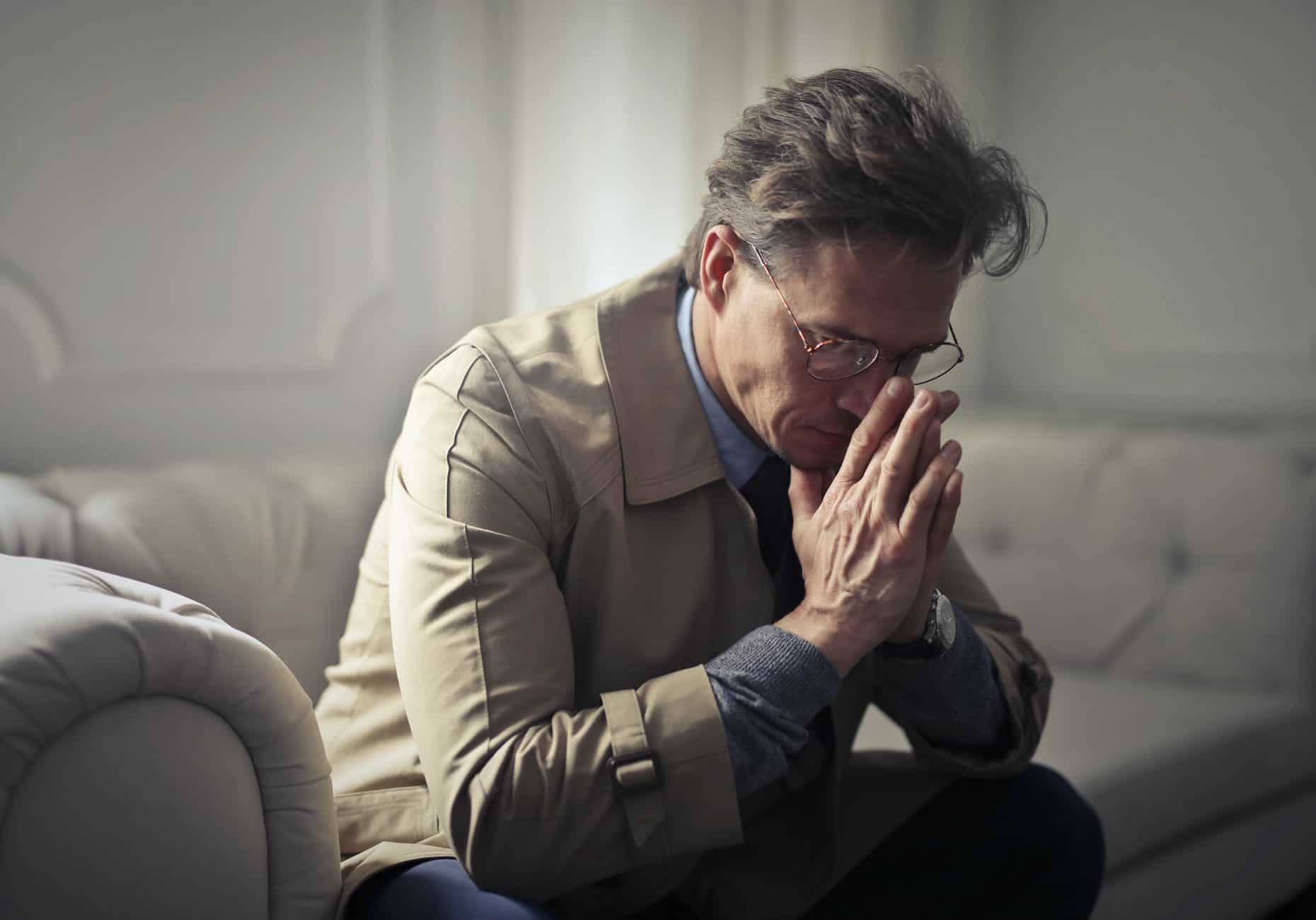 sad mature businessman thinking about problems in living room The Key to Effective Leadership
